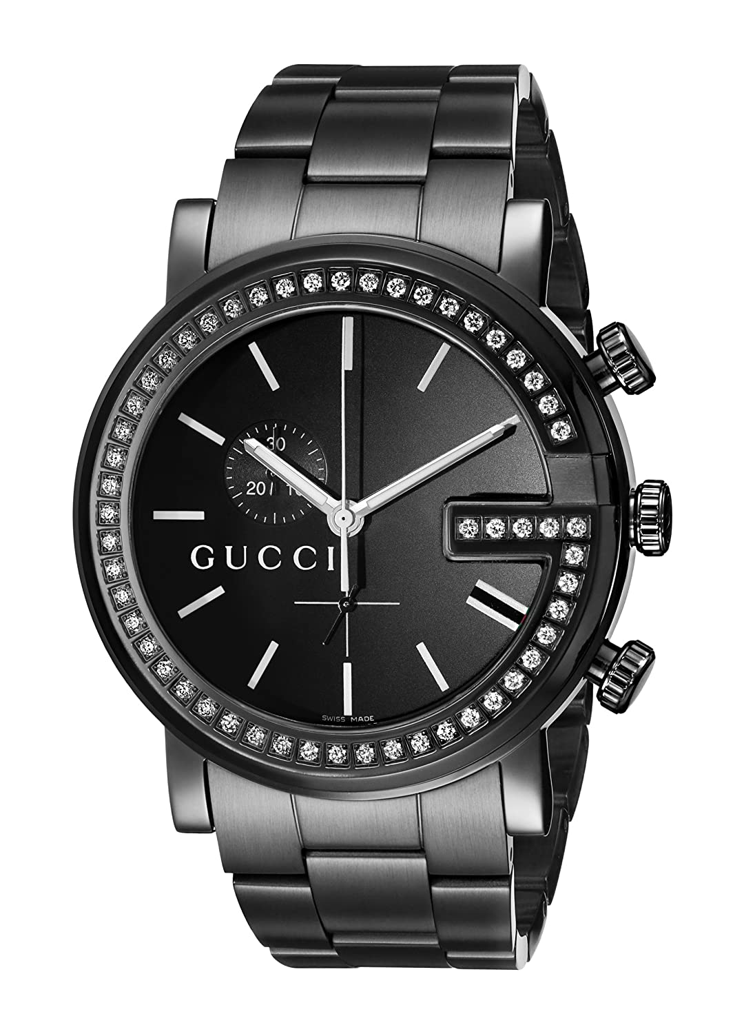 5219f3fb332 Gucci Men s YA101340 G-Chrono Black PVD with Diamond Accents Watch   Amazon.ca  Watches
