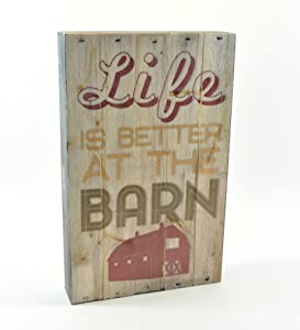 MRC Wood Products Life is Better at The Barn Pallet Box Sign 7.5 x 12