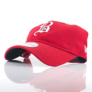 New Era 9TWENTY  Cooperstown  Boston Braves Red White Adjustable Curved  Peak Cap 07771d9513c