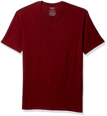 Amazoncom Vince Mens Pima Cotton V Neck Pomegranate S Clothing