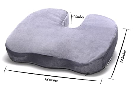 Wonderful FIRM Seat Cushion For Coccyx Tailbone And Back Pain Memory Foam High  Density FIRM Premium