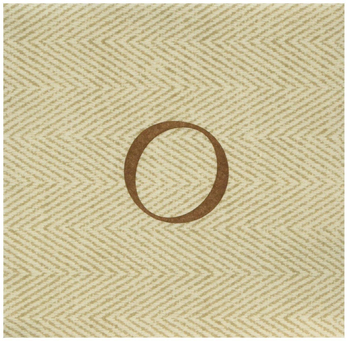 Monogram Paper Napkins Uk: Caspari Jute Herringbone Paper Linen Monogram Initial O