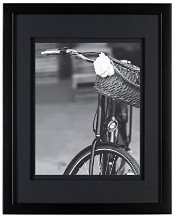 Amazoncom Gallery Solutions 11x14 Wood Wall Frame With Double
