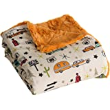 """Camp Casual CC-005RT Multi-Color (Reserve Pumpkin) 50""""x60"""" The Throw - Road Map,1 Pack"""