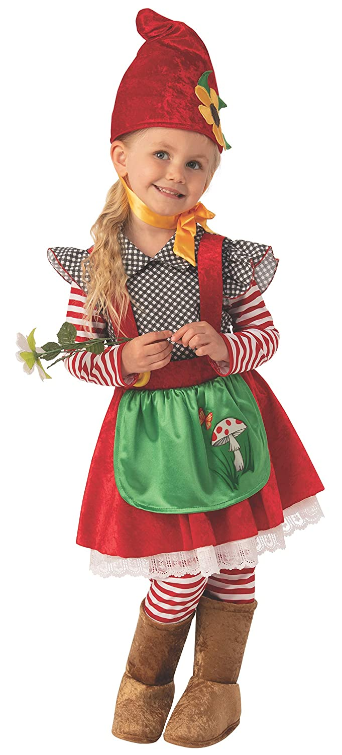 Rubies Garden Gnome Girls Child Dwarf Costume