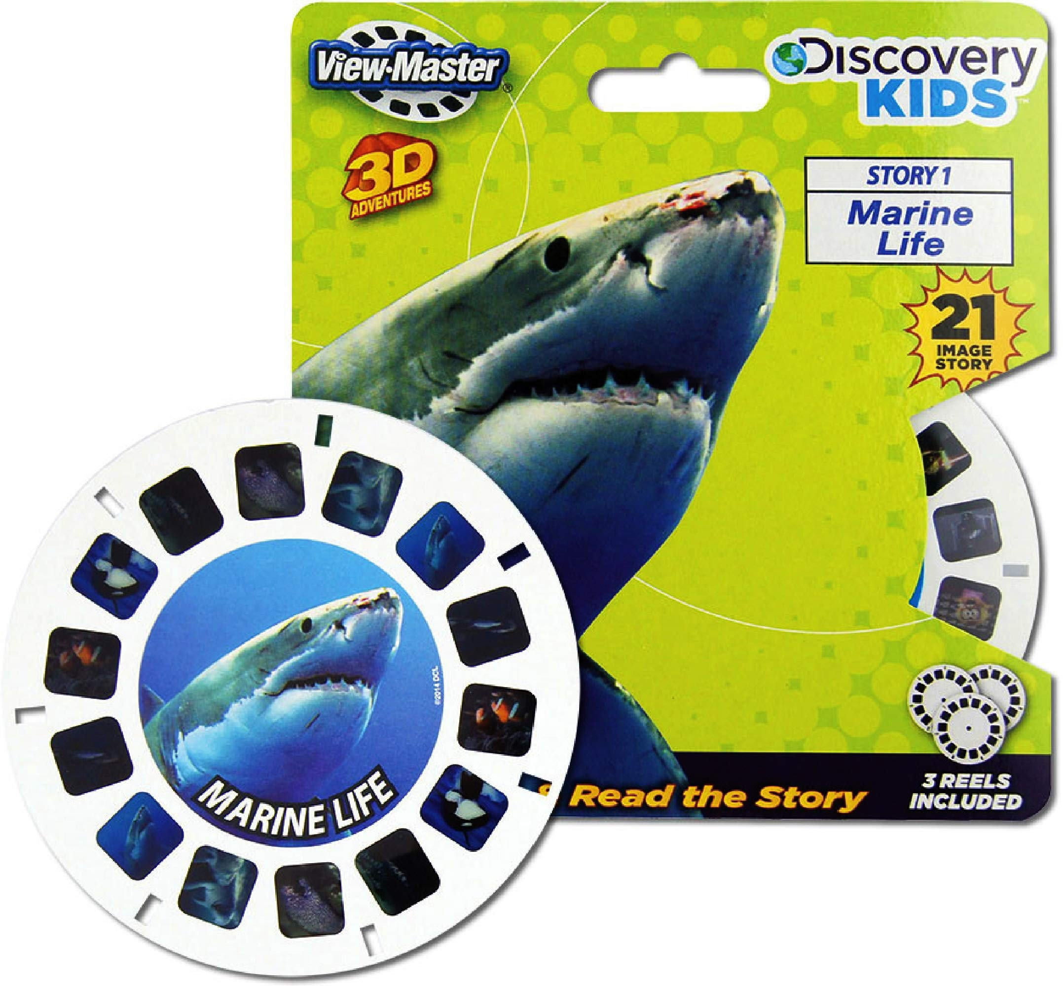 View Master Classic 3D Adventures Discovery Boxed Set & Marine Life Refill Gift Set Bundle with Bonus Matty's Toy Stop Storage Bag - 2 Pack by View Master (Image #3)