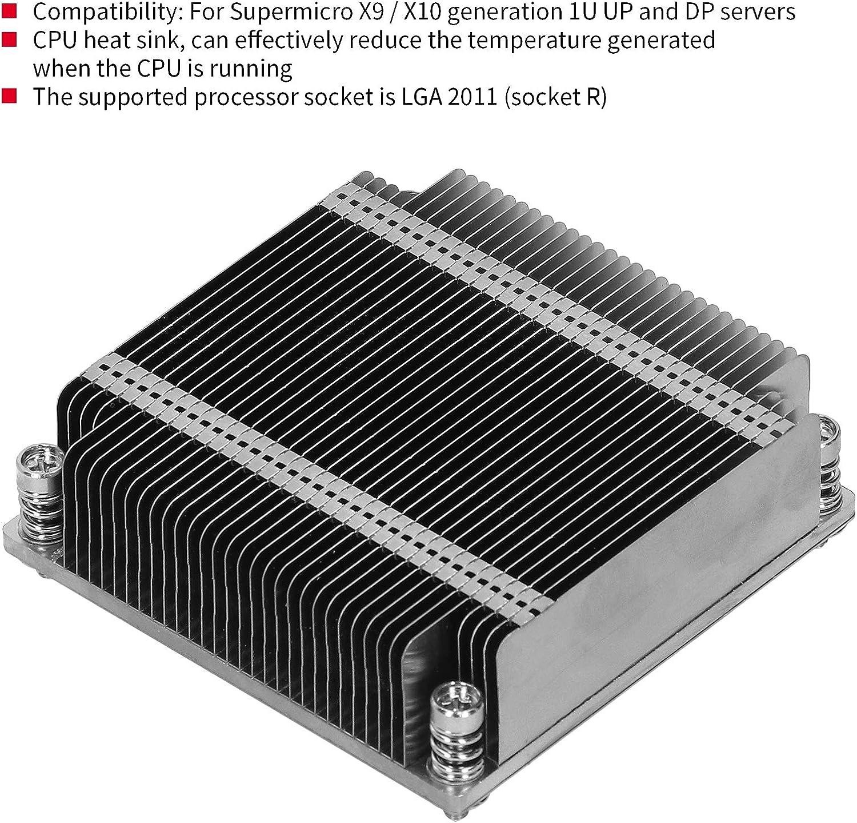 Hyuduo1 Heat Sink Passive CPU Heat Sink LGA2011 Heat‑Dissipating Parts for X9//X10 1U UP and DP Server