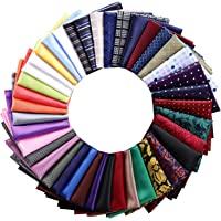 40 Pack Pocket Squares for Men Mens Pocket Squares Set Assorted Colors with a Holder