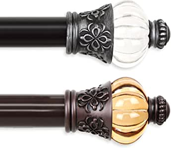 "A&F Rod Décor - Majestic 1.5"" Non-Telescoping Heavy Duty Curtain Rod 17ft - Cocoa"