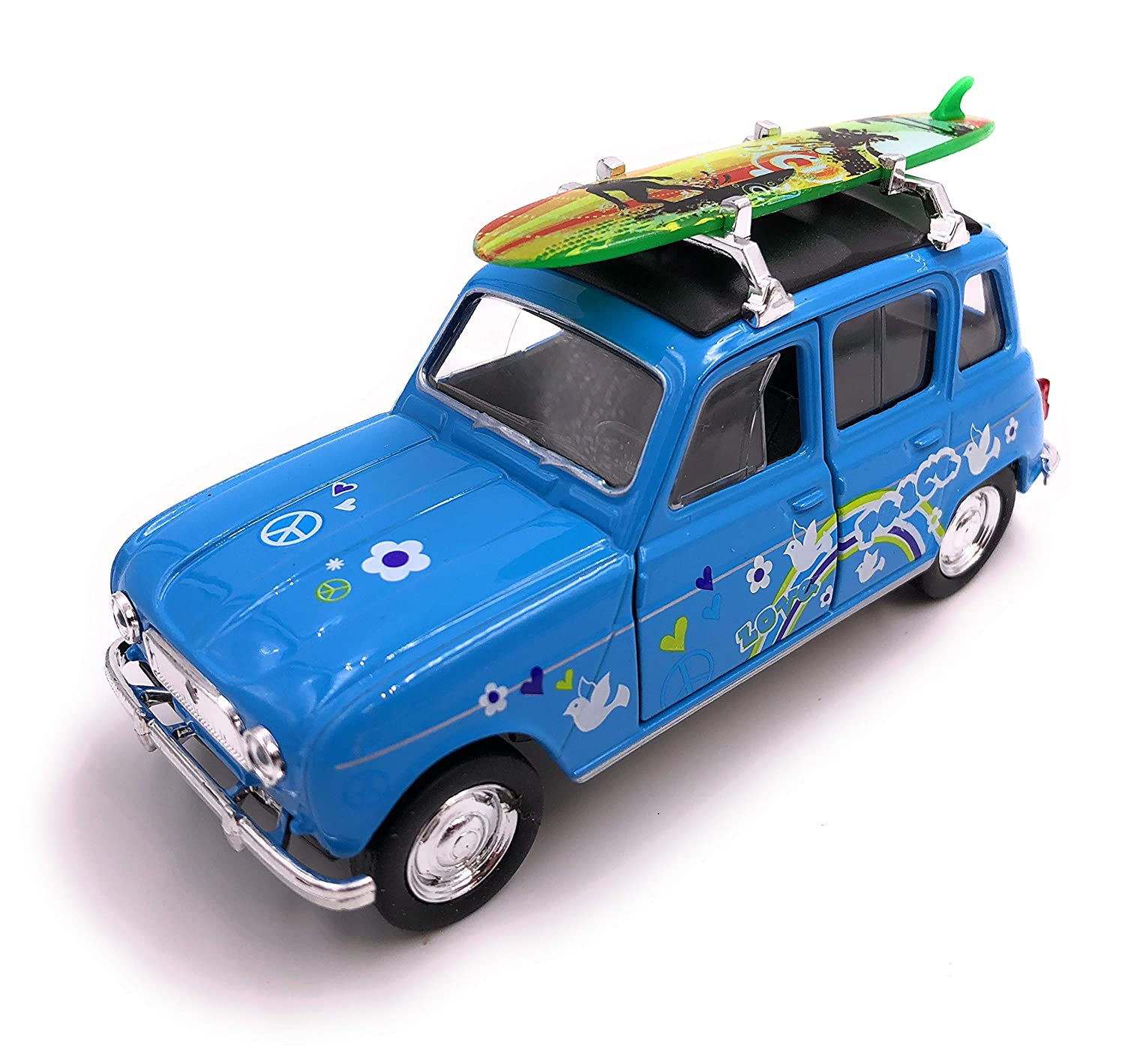 H-Customs Welly Renault 4 Surf Model Car Auto Produit sous Licence 1: 34-1: 39 Bleu hcmrenaul4surfblau1810