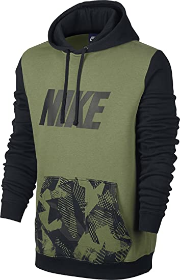 Nike M NSW Hoodie Po FLC SP, Herren-Kapuzenpullover M Grün (Palm Green cb50be2128
