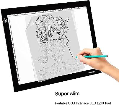 HUION L4S Caja de Luz para Calcar, Panel LED de Dibujo, LED Light Pad Tableros de Dibujo, Iluminación Ajustable, Ideal para Animacion, Tatoo, Dibuja, Inspección De Rayos X: Amazon.es: Electrónica