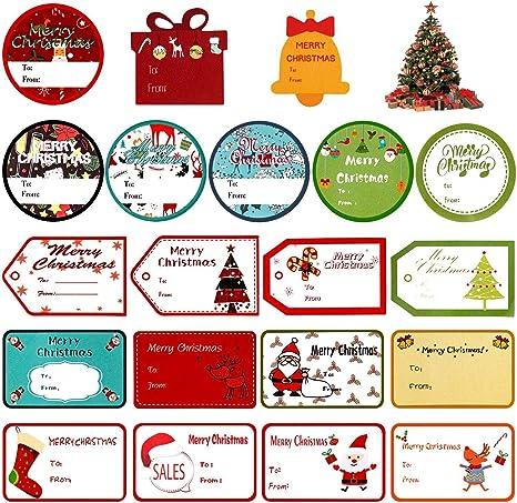 Christmas tags Merry Christmas 10 1 multicolored