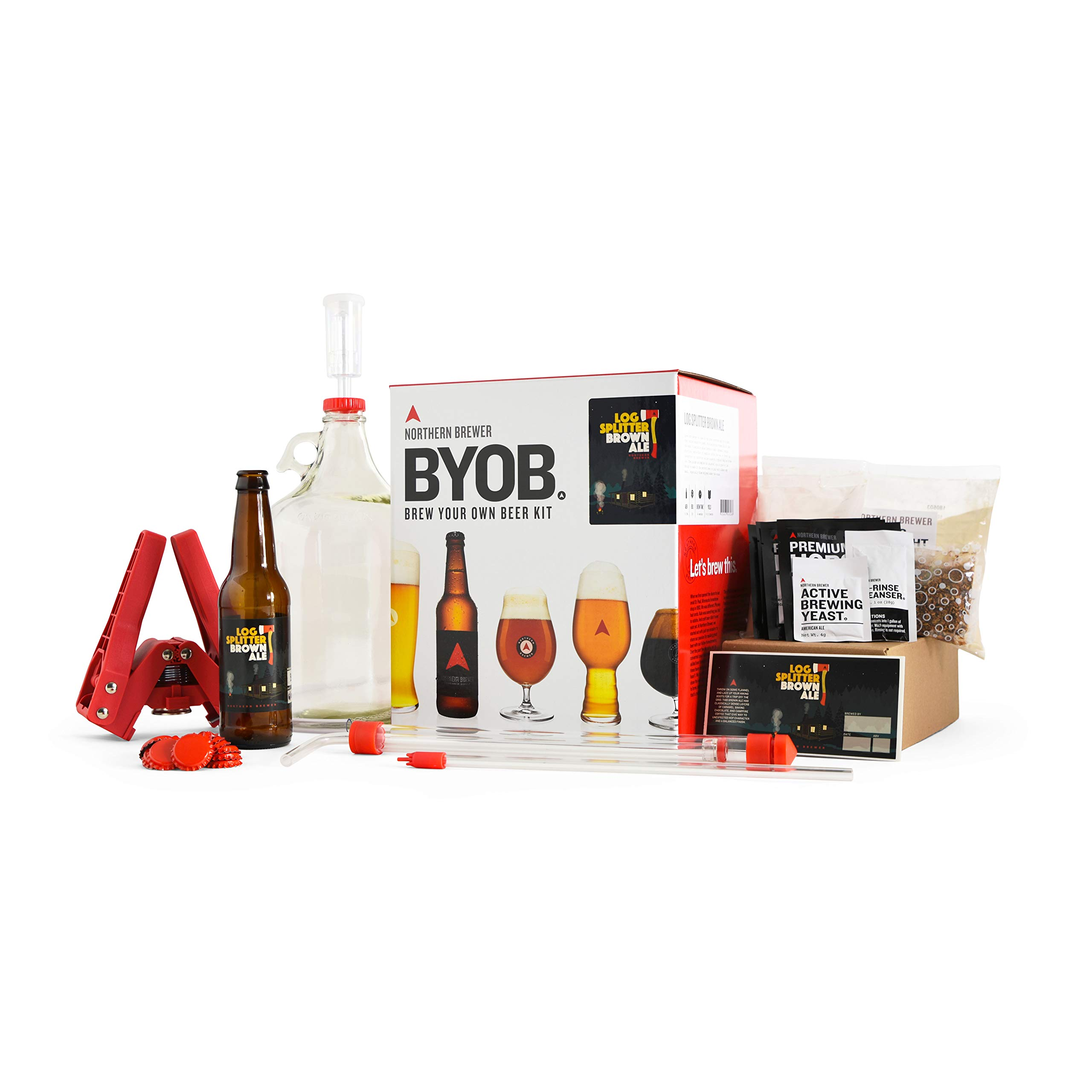 BYOB by Northern Brewer - Brew Your Own Beer Home Beer Making Kit (Log Splitter Brown Ale)