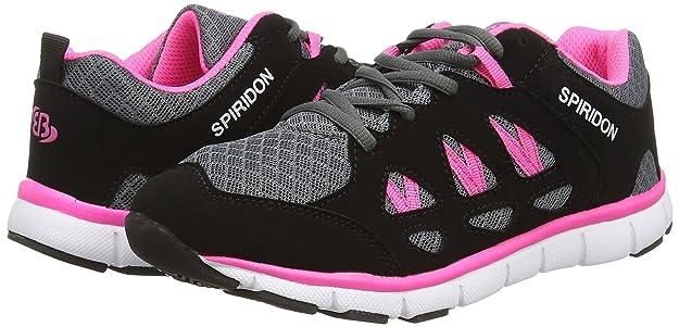 Bruetting Spiridon Fit, Damen Laufschuhe, Grau (Grau/Schwarz/Pink), 38 EU