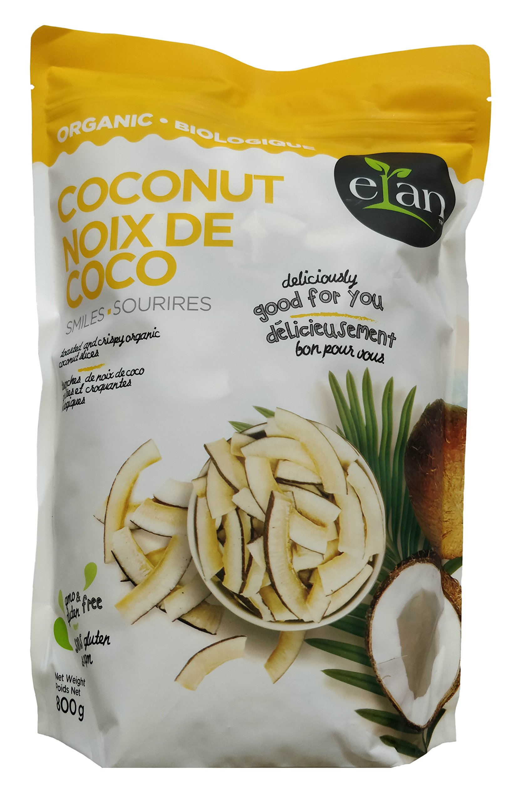 Elan Organic Coconut Smiles 800g, Vegan, Organic, Gluten & GMO Free. ''Deliciously Good For You''