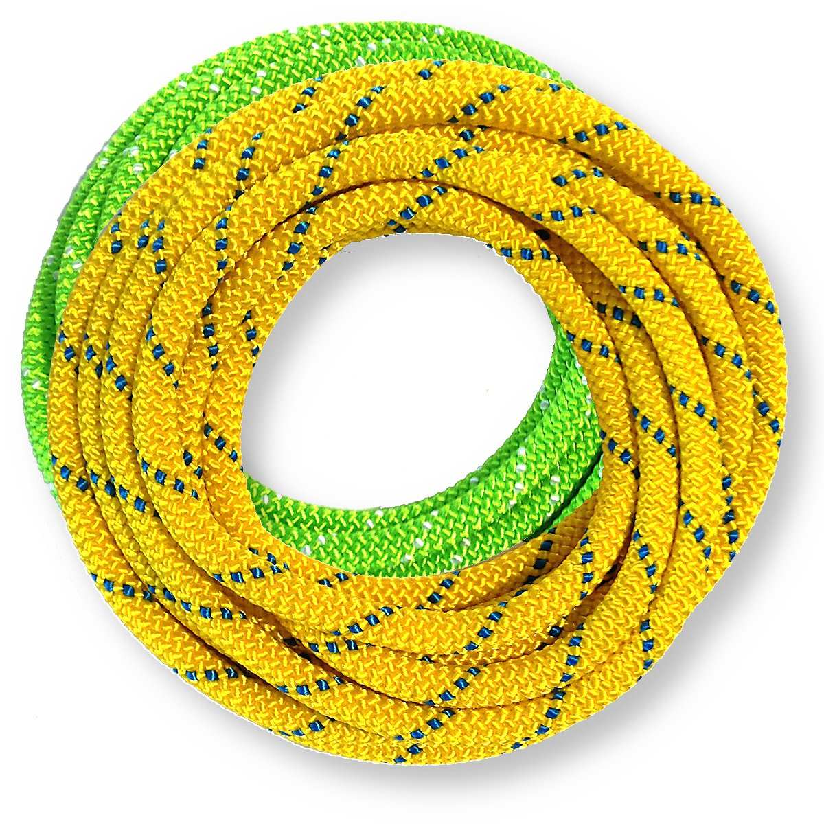 OmniProGear 8mm x 11 feet Prusik Cord Lime & 8mm x 11 feet Yellow Made IN USA MBS 16.44kN (3700lbs) by OmniProGear