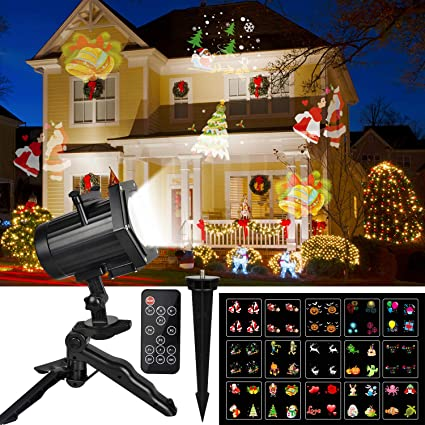 Christmas Projector Lights, Comkes 15 Patterns LED Projector Lights  Waterproof Dynamic Outdoor Christmas Lights Spotlights - Christmas Projector Lights, Comkes 15 Patterns LED Projector Lights  Waterproof Dynamic Outdoor Christmas Lights Spotlights Decoration For  Christmas,