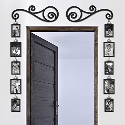 Around The Door Picture Frame Sets 12 Piece For Wall Collage Frames Multi  Photo 4x6 5x7