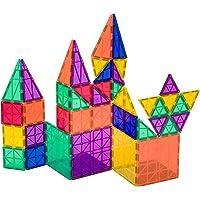 Playmags 152 - Ensemble de 50 pièces avec des aimants plus puissants, solide, très résistant avec des carreaux de couleur vive éclatante