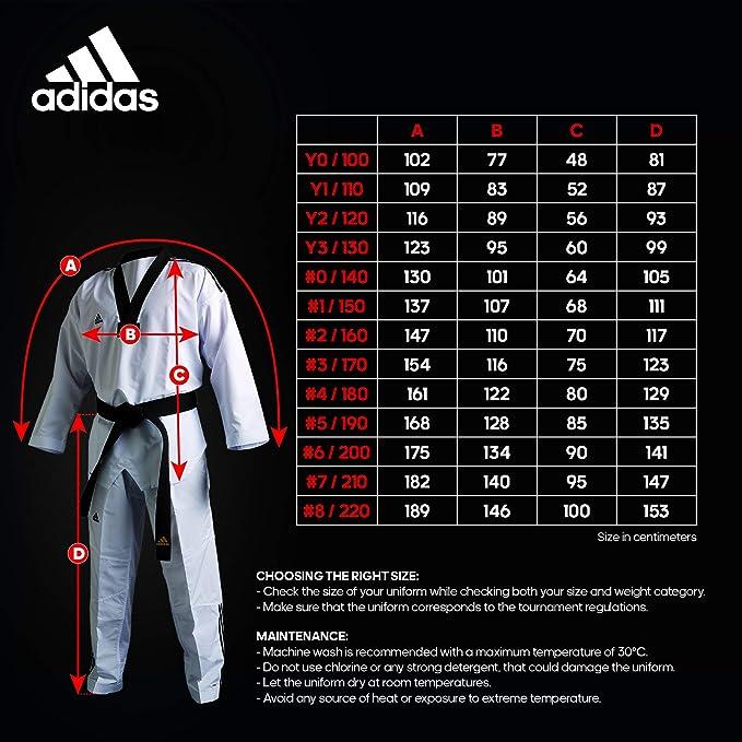 adidas Dobok Taekwondo adi Flex col Noir: : Sports