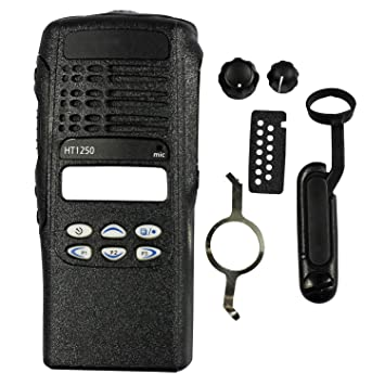 abcGoodefg New Replacement Front Outer Housing Case Cover for Motorola HT1250 Two Way Radio Black