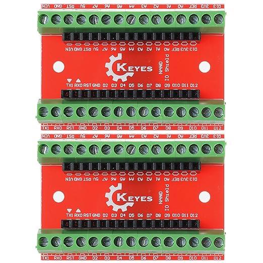 4 opinioni per XCSOURCE Bordo 2PCS Terminal Adapter per Arduino Nano V3.0 AVR ATMEGA328P-AU