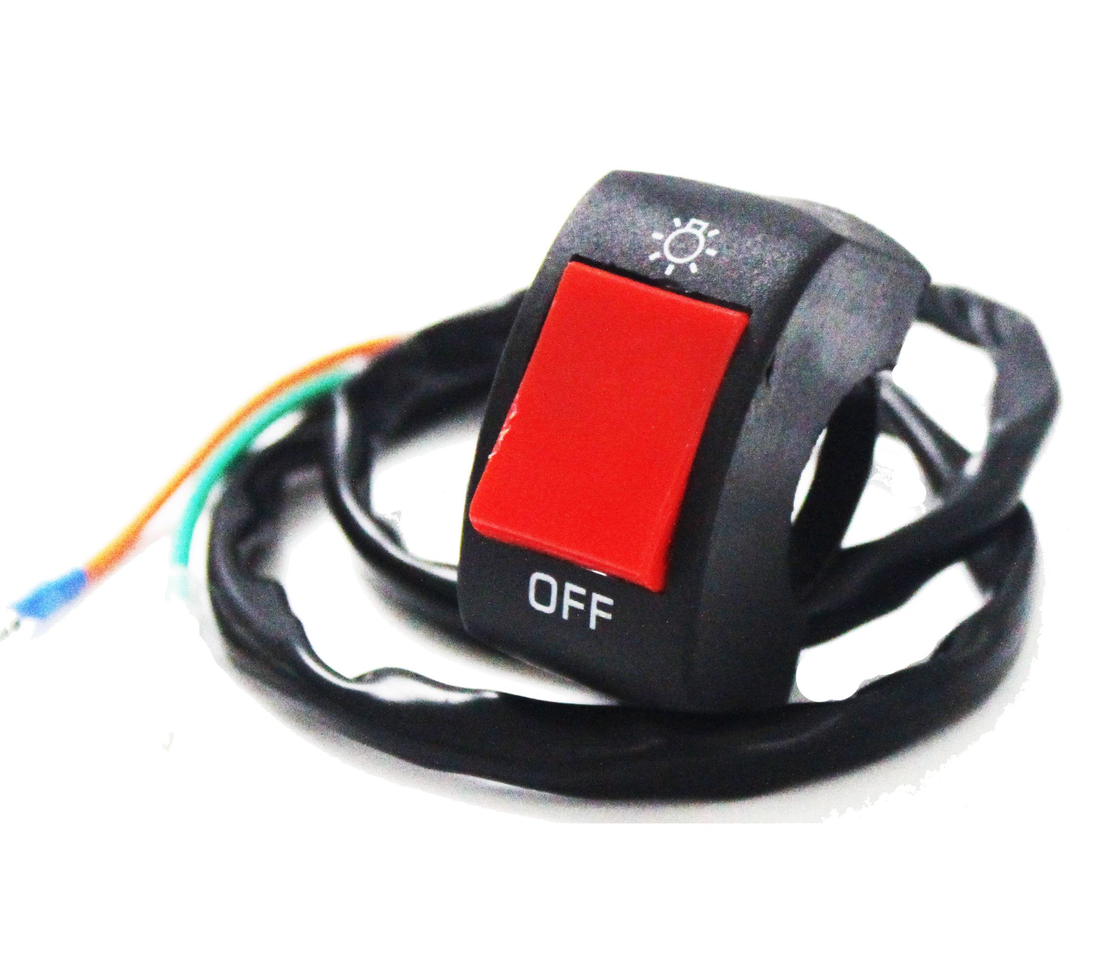 Ourbest Handlebar Mounting Switch Button Bicycle Motorcycle Tuning Part for U5 U7 U2 LED Headlight Scooter Electrombile by Ourbest (Image #1)
