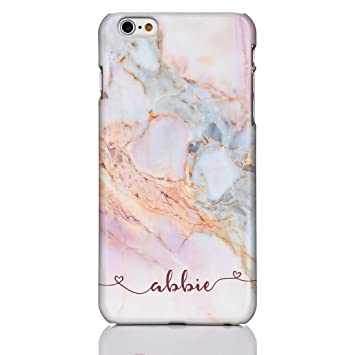 sale retailer 143a3 7aba0 iCaseDesigner Personalised Marble and Glitter Phone Case for Apple iPhone 6  / 6S - 13: Handwriting with Hearts on Colourful Pastel Marble