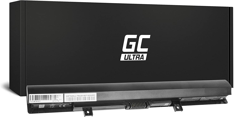 Green Cell Ultra Batería para Toshiba Satellite L50-B-23H L50-B-23Z L50-B-241 L50-B-24U L50-B-24V L50-B-27P L50-B-281 L50-B-2D4 L50-B-2E2 L50-B-2EC L50-B-2EZ Portátil (3400mAh 14.4V Negro)