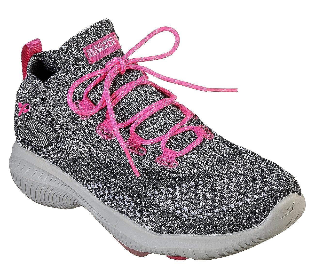 - Skechers Womens's Go Walk Revolución Ultra, Walking, Black Pink, US M