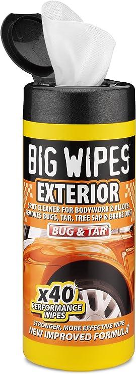 BIG WIPES - Tubo de toallitas de Limpieza para Exterior de Coche ...