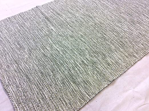 Cotton-trader Alfombra de algodón Natural ecológico con Amarillo ...