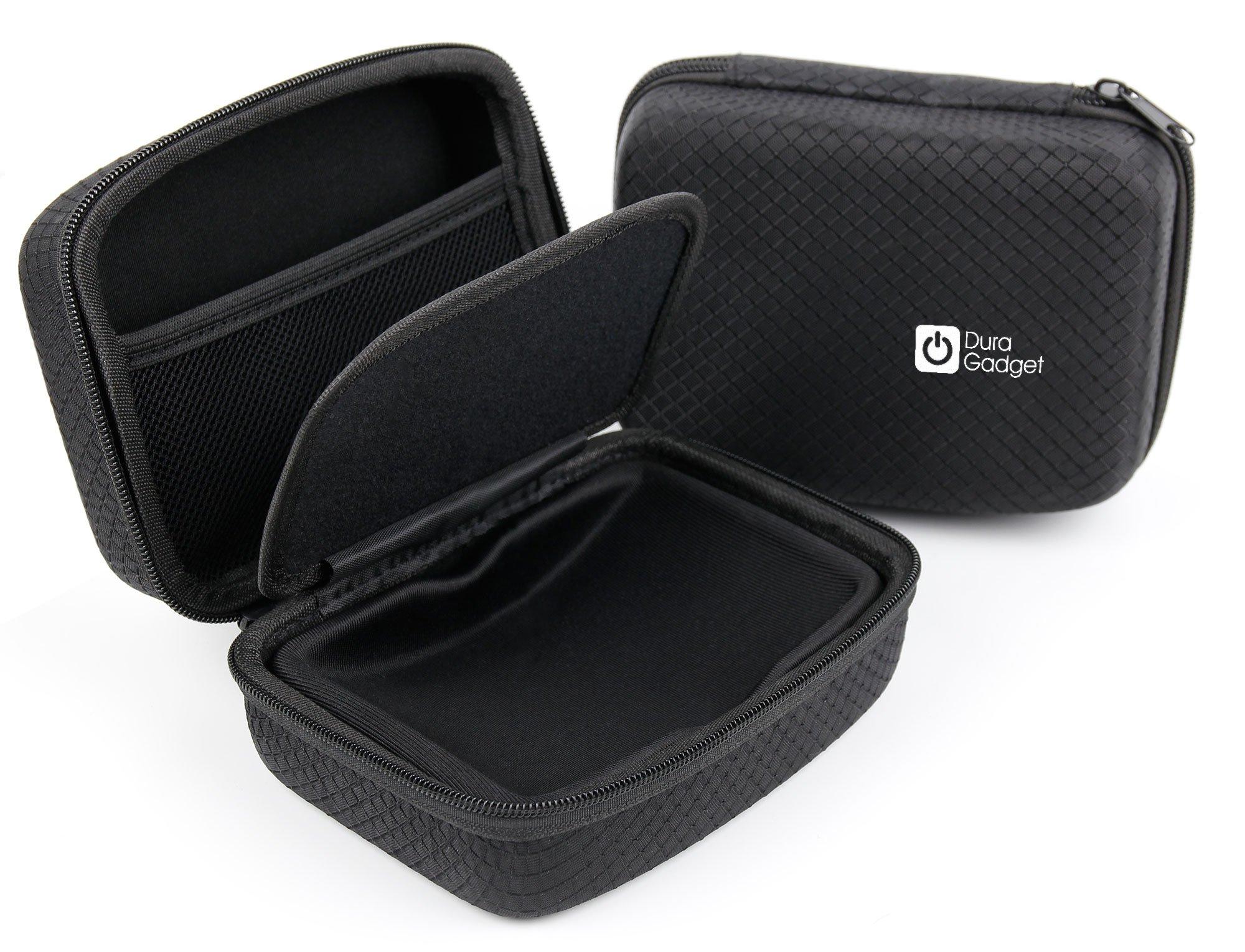 DURAGADGET Jet Black Hard EVA Carry Case for the Snapchat Snapshot Donut-Shaped Dual-Lens Mini Camera by DURAGADGET