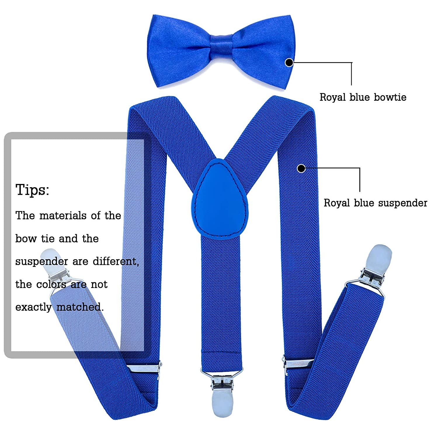 Adjustable Child Suspender for Toddler and Girls 7 Years to 5 Feet Tall Yellow, 31 Inches Kids Boy Suspenders Bowtie Set