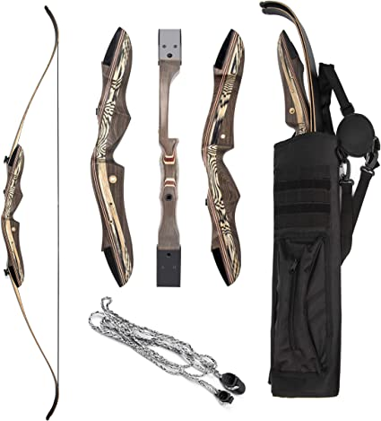 Right /& Left handed Takedown Recurve Bow and arrow Archery Hunting bow 15-55lb
