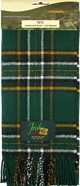 100% Lambswool Scarf in Irish National Tartan