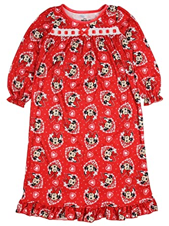 Disney Minnie Mouse Girls Flannel Granny Gown Nightgown (Toddler Little Kid Big  Kid 53f2d78bd