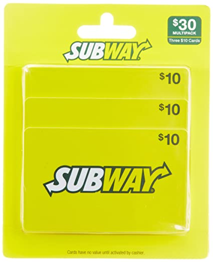 Review Subway Gift Cards, Multipack of 3