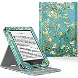 Capa Novo Kindle Paperwhite a Prova D'água WB ® Premium Vertical Auto Hibernação - Flores