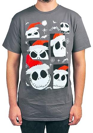 disney mens nightmare before christmas t shirt jack skellington santa small