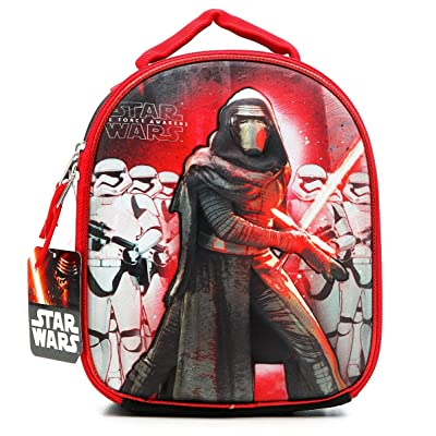 Star Wars Episode 7 The Force Awakens Kylo Ren First Order Stormstroopers Dome Lunchbox Lunch Bag with Molded Cover: Kitchen & Dining