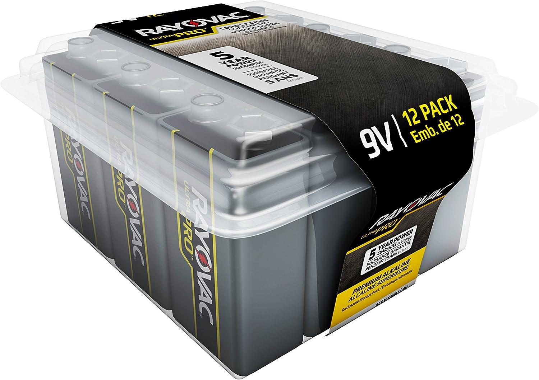 Rayovac Ultra Pro 9V Reclosable 12-pack by Rayovac: Amazon.es: Salud y cuidado personal