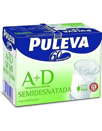 Puleva Leche Semidesnatada Vitaminas A+D - Pack de 6 x 1 l - Total