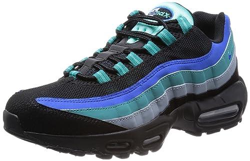 huge discount abfad 197f5 Nike Air Max  95 Mens Running Shoes 609048-084 Black Hyper Cobalt-Catalina