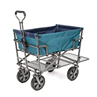 Mac Sports Heavy Duty Steel Double Decker Collapsible Yard Cart Wagon …