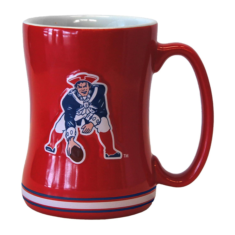 NFL新しいEngland Patriots Vintage Sculpted Relief Mug、414ml   B01FUXQCDA