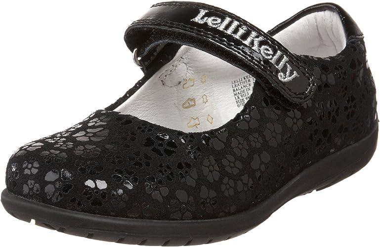 Frankie SNR Black Leather School Shoes F Fitting CB01 Lelli Kelly LK8286