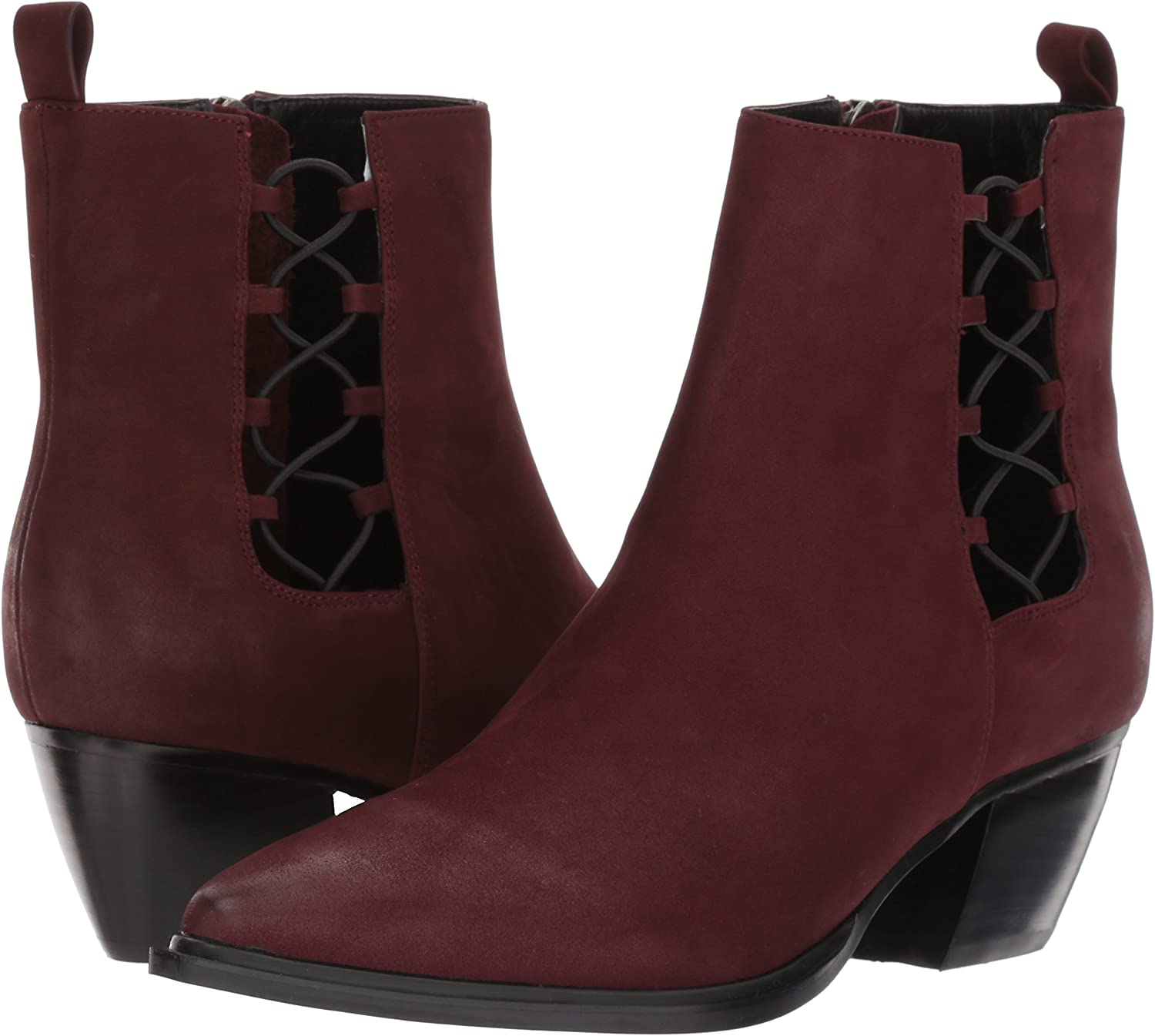Wine 6 B US Sbicca Womens Hackney Ankle Boot