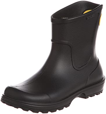 Mens Wellie Wellington Waterproof Pull on Rain Boot Shoes